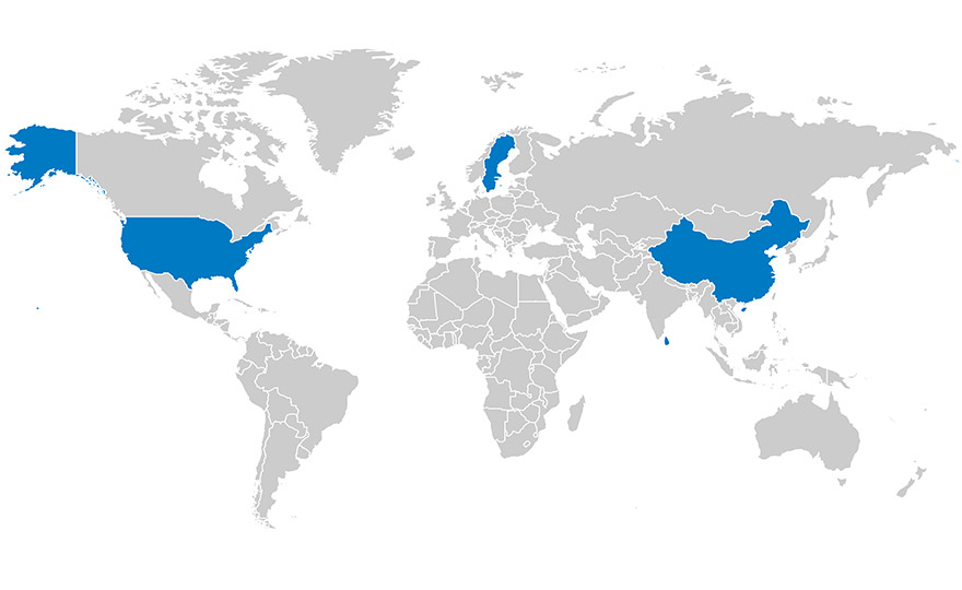 Gislaved Gummi footprint - global partner